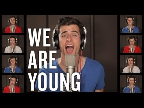 We Are Young - fun. - Mike Tompkins - A Capella Cover with lyrics
